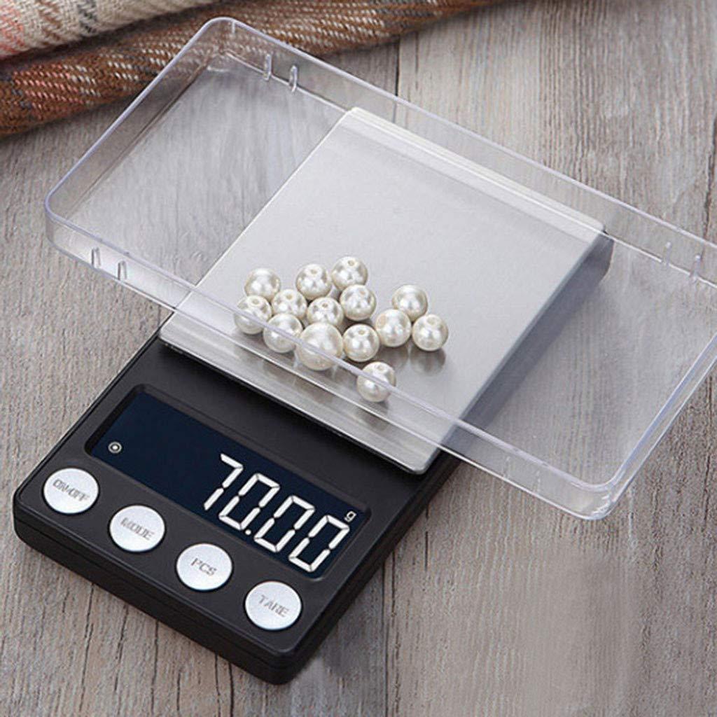 webla báscula de Cocina electrónica multifunción sin batería 0.01 gram Joyas de precisión electrónica Báscula Digital Peso Báscula de Bolsillo 300 g: ...
