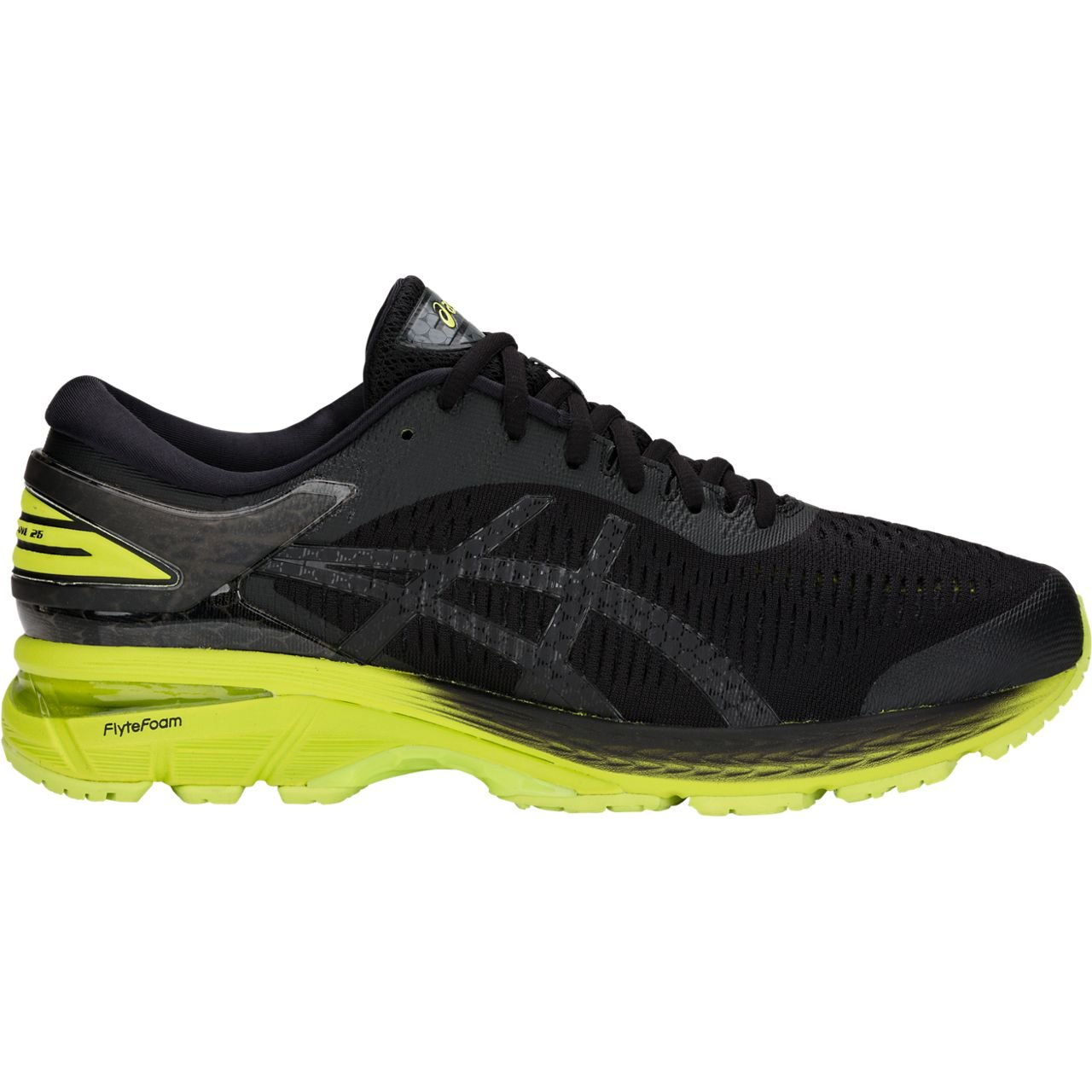 ASICS Gel-Kayano 25 Men's Running Shoe, Black/Neon Lime, 7 D(M) US by ASICS (Image #1)