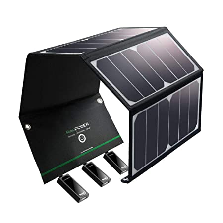 side facing ravpower portable solar chargers