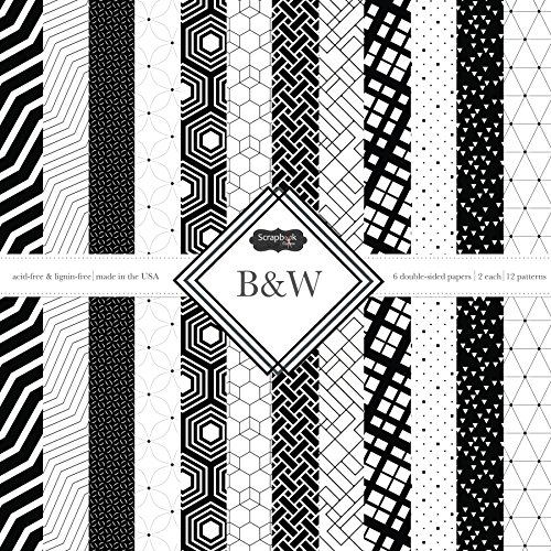 - Scrapbook Customs Themed Paper Scrapbook Kit, Black & White