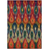 Oriental Weavers 2061Z Kaleidoscope Area Rug, 5-Feet 3-Inch by 7-Feet 6-Inch, Multi Colored For Sale