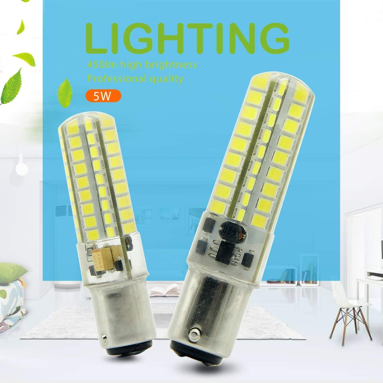 Ymm Bombilla LED B15D 5W LED Blanco Frío 6000K Non-Dimmable ...
