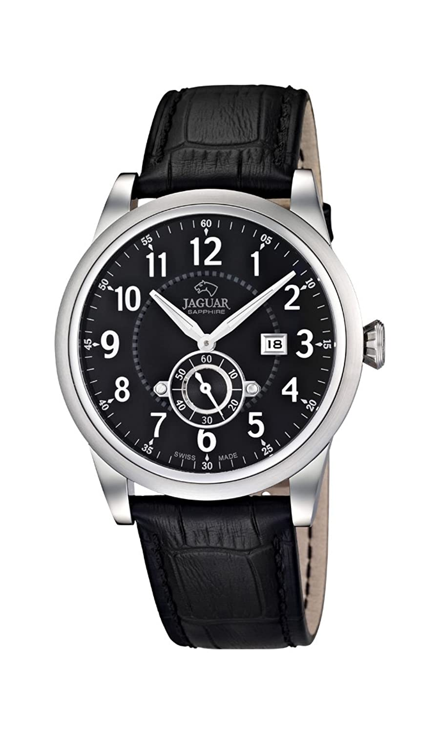 Jaguar Watches Herren-Armbanduhr XL Analog Quarz Leder J662-4