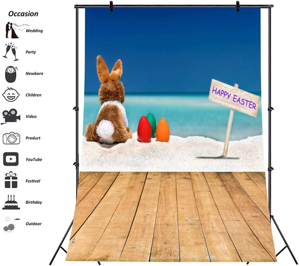 Yeele-Easter-Backdrop 8x10ft Happy Easter Photography Background Eggs Brown Wooden Floor Photo Backdrops Pictures Studio Props Wallpaper