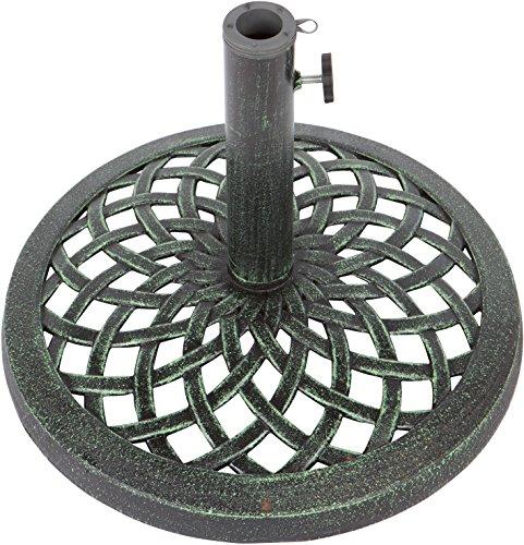 Trademark Innovations Cast Iron Umbrella Base - 17.7 Inch Diameter ()