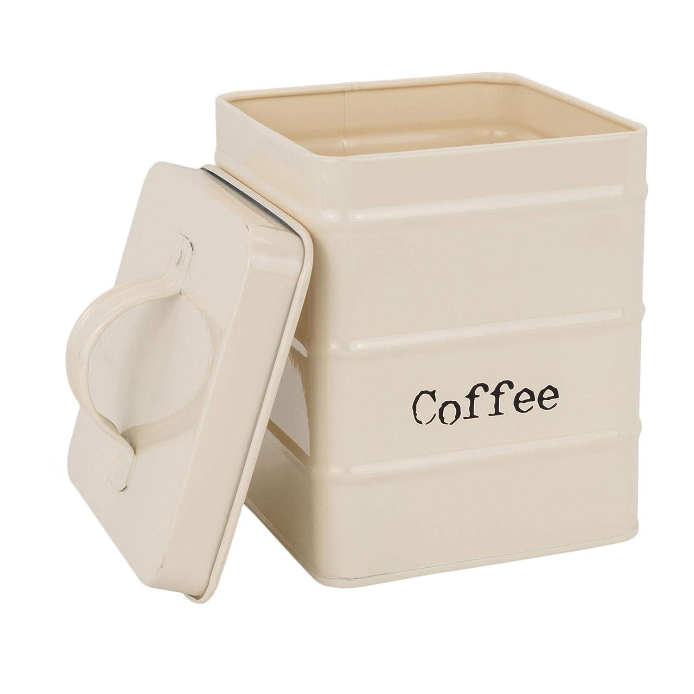 Harbour Housewares Metal Tea Cream Sugar Canister Set Coffee