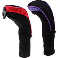 2X Long Neck Golf Iron/Wood Head Covers Long Neck Sock Sleeve for Club Red