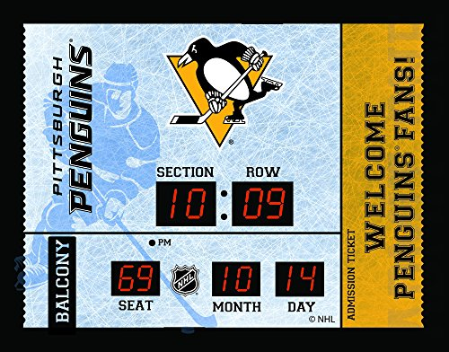 Team Sports America Pittsburgh Penguins Bluetooth Scoreboard Wall Clock