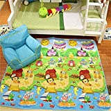 Owme Play mat Baby mats Waterproof Large Size Double Side Big Soft (6.5 Feet X 6 Feet) Crawl Floor Matt for Kids Picnic School Home with Zip Bag to Carry