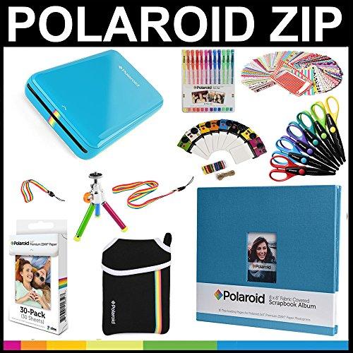 "Polaroid ZIP Mobile Printer Gift Bundle + ZINK Paper  + 8x8"""