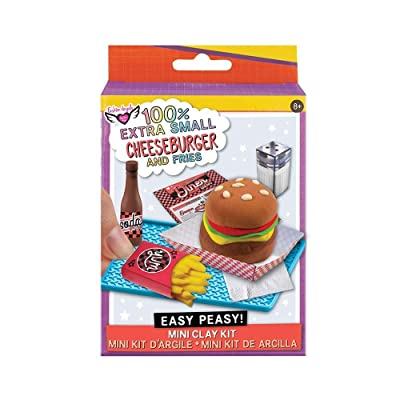 Fashion Angels Easy Peasy 'Mini Clay Kit' Cheeseburger & Fries: Toys & Games