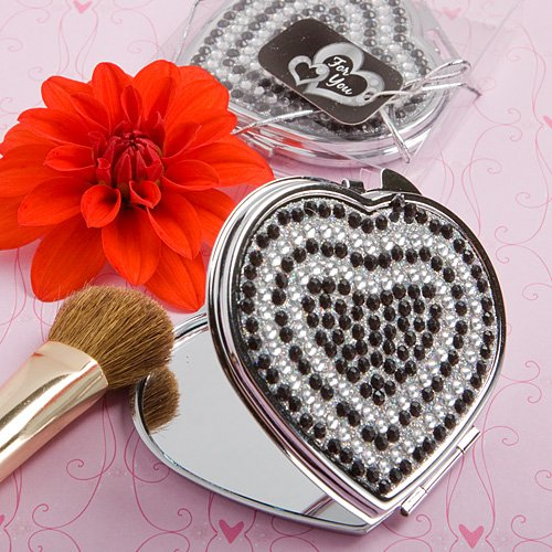 Heart Design Classy Compact Mirrors