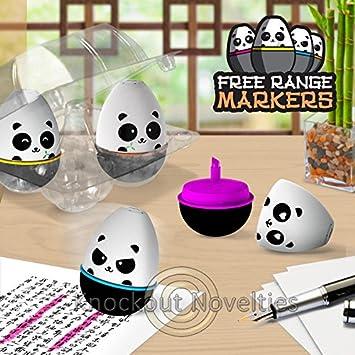 Amazon.com: Free Range Markers Panda Highlighter Hilighter ...