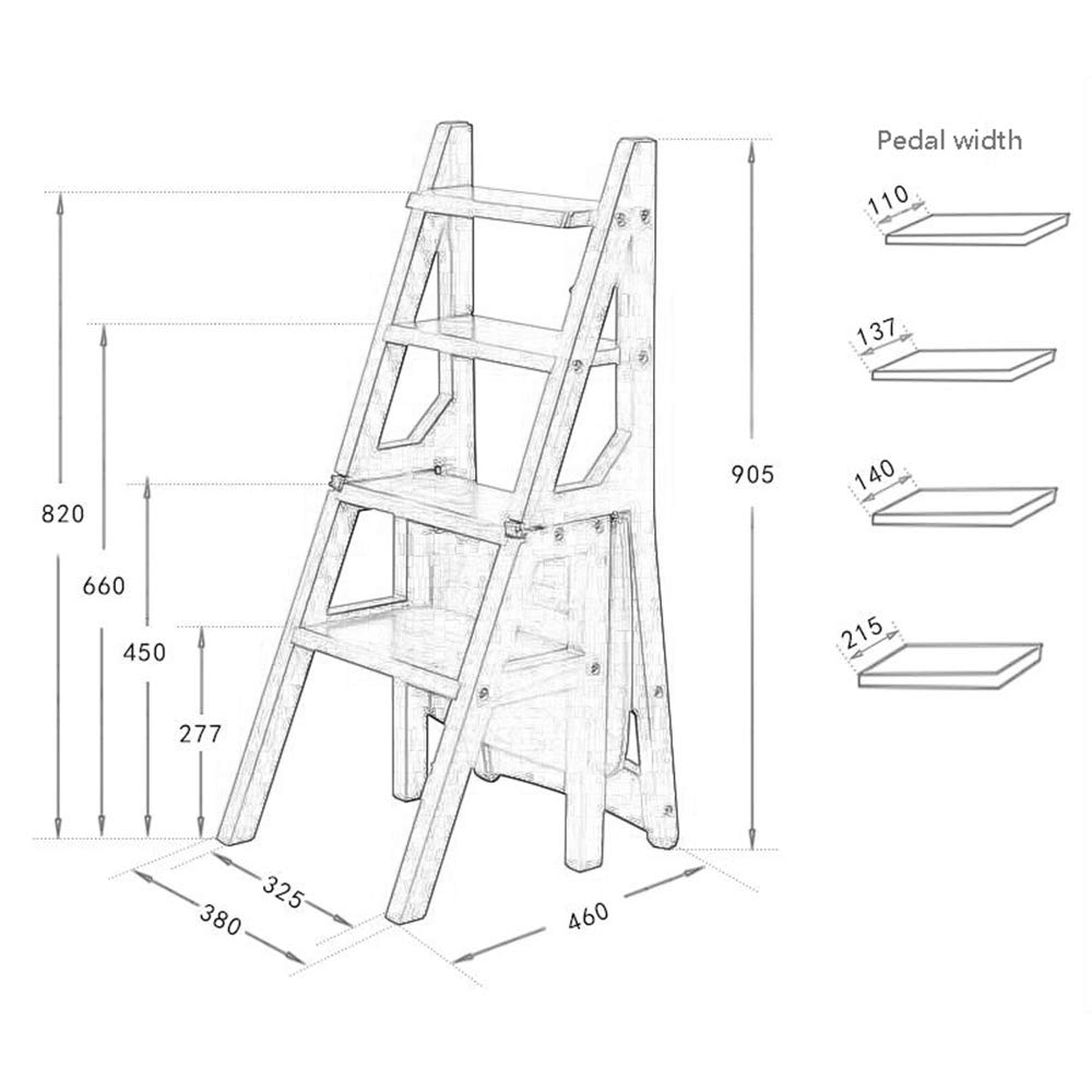 Amazon.com: Taburete escalera, silla moderna casa, escalera ...