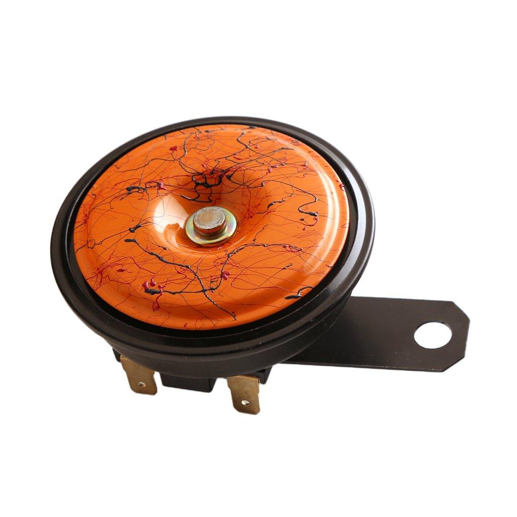 Orange MonkeyJack 12V 118dB Electric Dual Tone Air Horn for Cars Trucks SUVs RV Motor