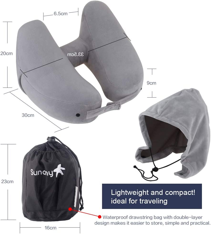 Best travel pillows - Neck Pillow Inflatable Travel Pillow Comfortably Supports The Head, Neck and Chin
