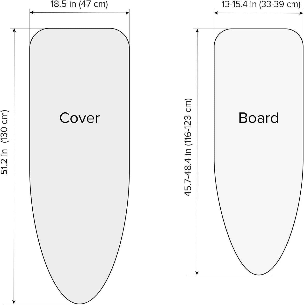 Home & Kitchen Ironing Board Cover and Pad 100% Cotton Size L ...