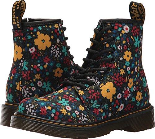 Dr. Martens Girl's Delaney Wanderflora Junior Boots, Black, 2 Little Kid M UK, 3 M US for $<!--$44.99-->