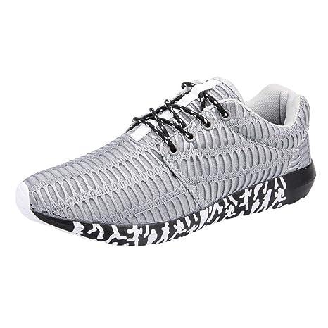 Zapatillas de Running para Hombre,BBestseller invierno Cinturón de malla con calzado deportivo transpirable para hombres zapatos para caminar 39-47: ...