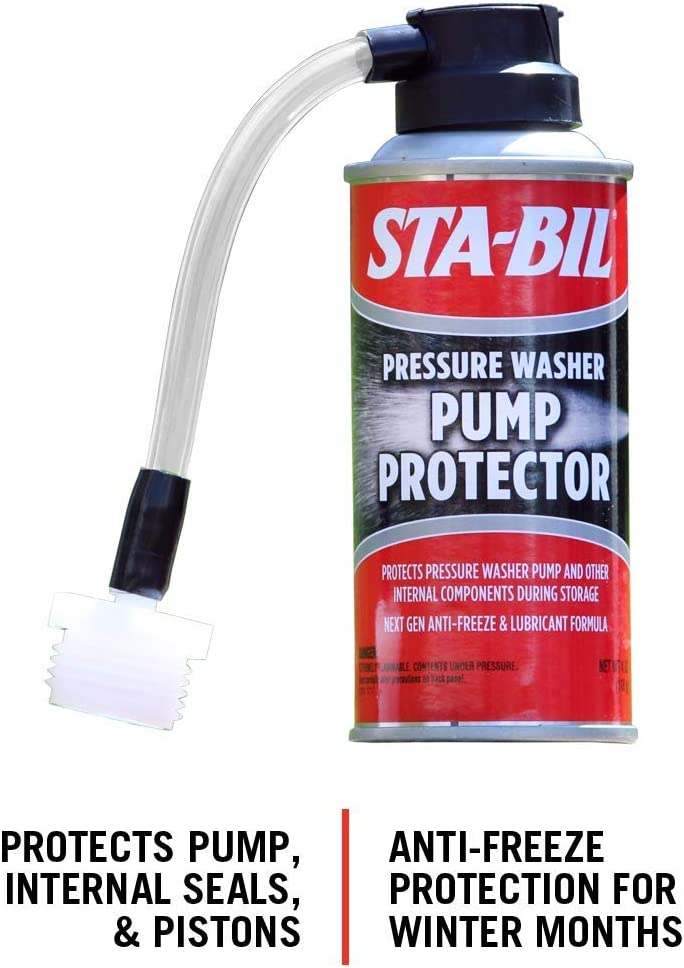 STA-BIL (22007) Pump Protector - Protects Pressure Washer Pump And Other Internal Components During Storage - Next Gen Anti-Freeze And Lubricant Formula, 4 oz.