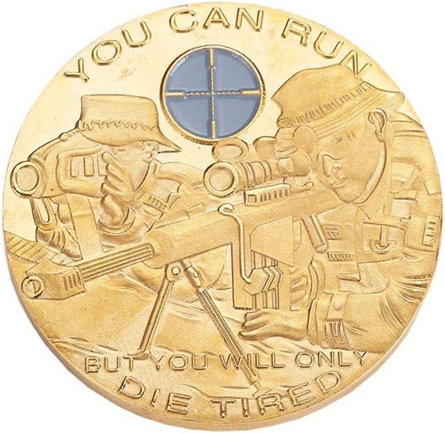 DANDANdianzi Soldats Sniper comm/émorative Motif But Coin gaufr/ée D/éfi Souvenir Collection M/édaille Cadeau