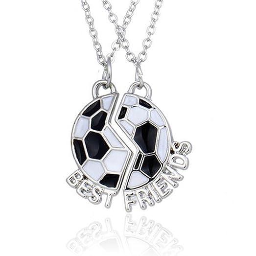 Amazon best friend necklace soccer football friendship pendant best friend necklace soccer football friendship pendant necklace 2 two parts football pendant aloadofball Images