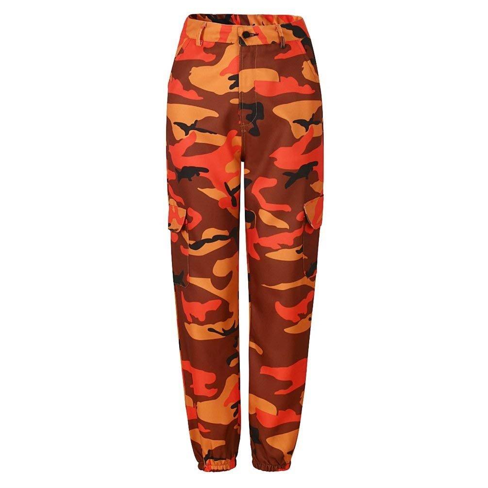 Screenes Mujer Pantalon Militar Casuales Anchas Streetwear Hip Hop Estilo  Pantalones Harem Pantalones De Linterna Lindo Chic Deportivas Entrenamiento  ... e573851ab4c