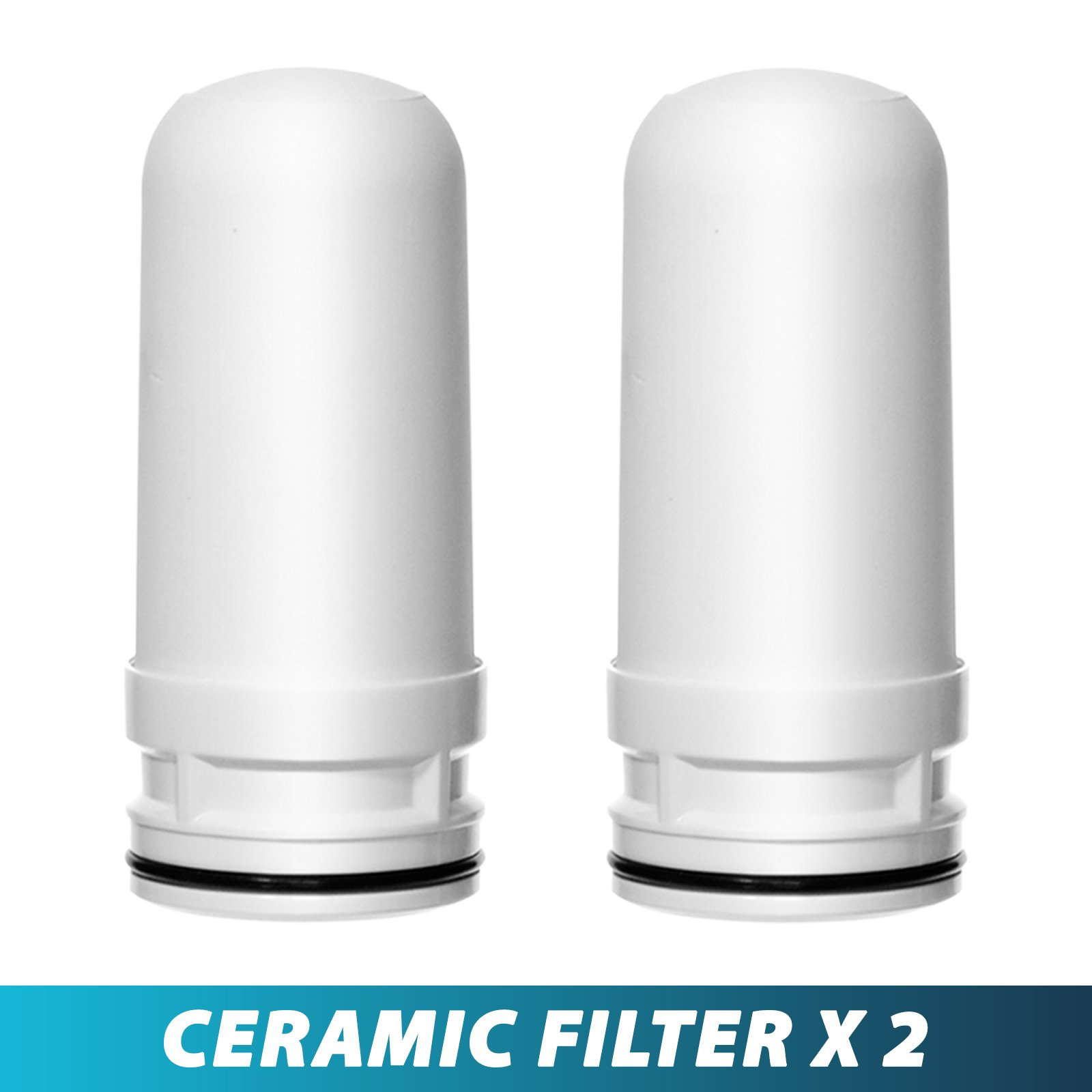 Ceramic Replacement Cartridge for LittleWell Faucet Mount Water Filters DFC1, DFW1, DFW2 (Pack of 2)…
