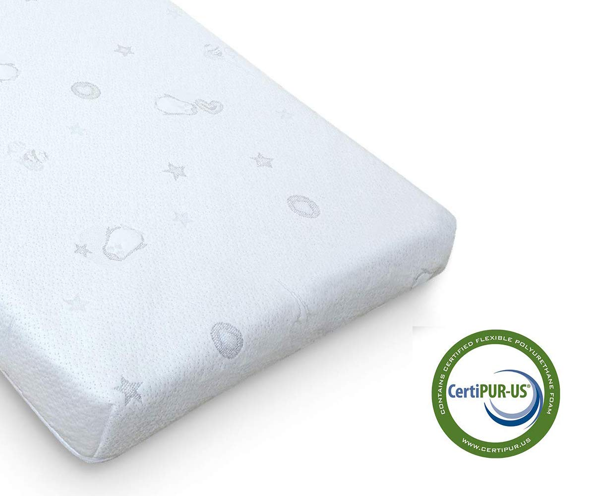 QUEEN ROSE Crib Mattress and Toddler Bed Mattress,Dual Firm Side System for Infant, Plush Soft Side for Toddler,Breathable Bamboo Cover for Standard Crib by QUEEN ROSE