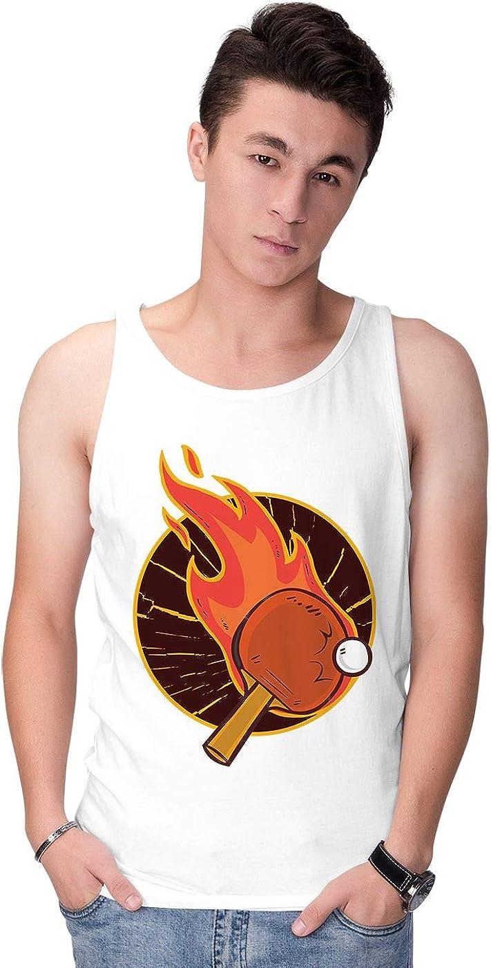 BLAK TEE Hombre Table Tennis aka Ping Pong Camiseta Sin Mangas