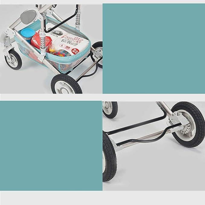 BJYX High Landscape Kinderwagen 2 In 1-Lightweight Faltbarer Kinderwagen Neugeborenen Shock Allrad Kinderwagen