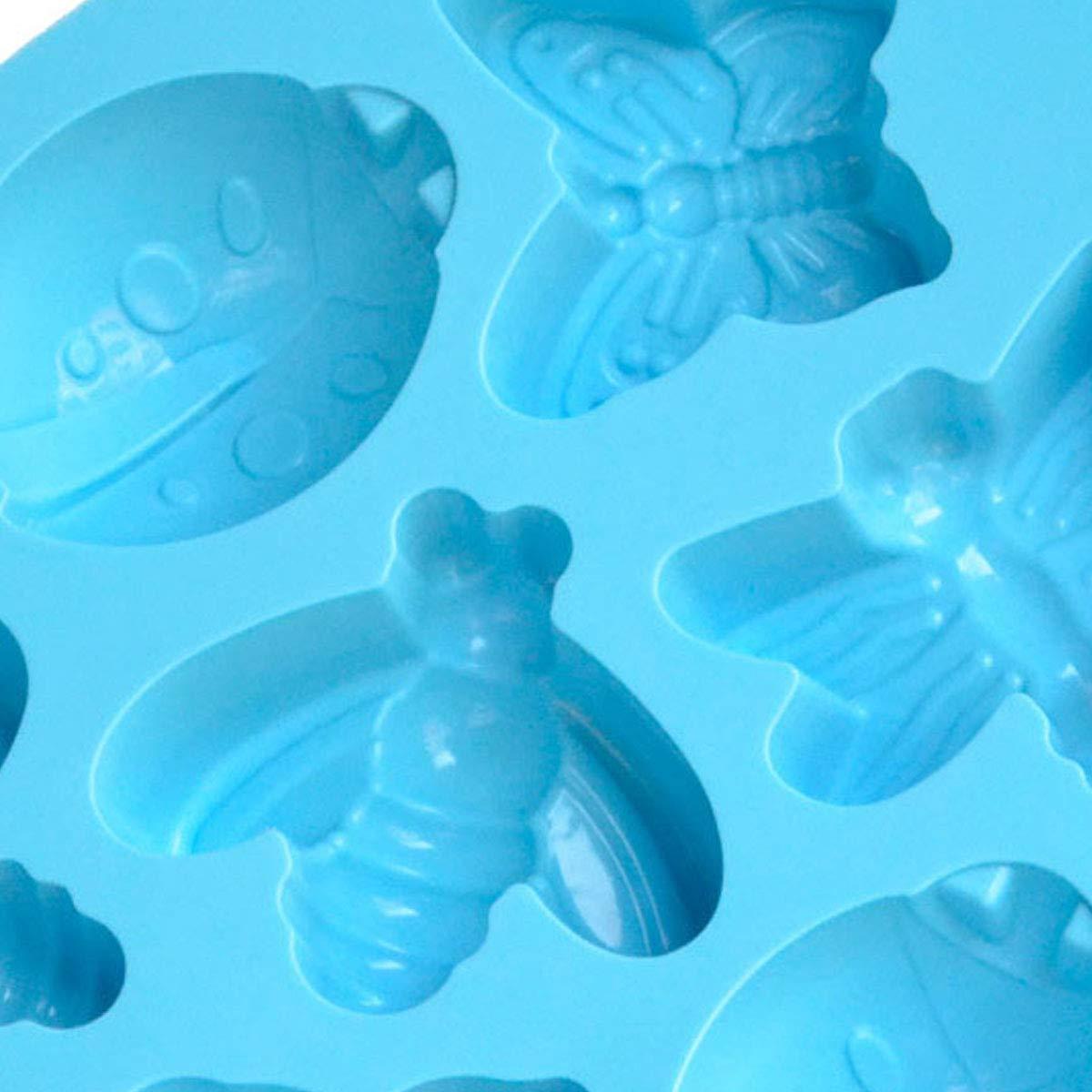 20 Wmaple Molde para pastel de silicona y animal Molde de chocolate para hornear Molde de jalea Decoraci/ón de pastel Azul 26.5 3.2cm