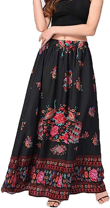 LUNULE VENMO Faldas Mujer Falda Maxi Boho Mujer Falda Larga de ...