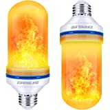 CPPSLEE Led Flame Effect Light Bulb, 4 Modes Flame Light Bulb, E26 Base Fire Light Bulb with Gravity Sensor, Holiday Party De