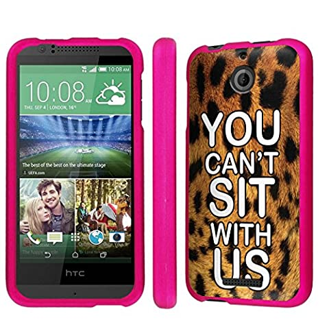 Htc Desire 510 / 512 Armor Case [NakedShield] [Hot Pink] Total Armor Protection [Shell Snap] Phone Case - [You Can't Sit with Us - Leopard] for Htc Desire 510 / (You Cant Sit With Us Phone Case)