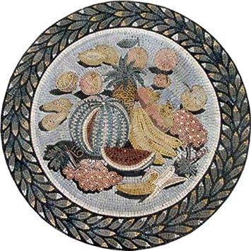fruits kitchen backsplash medallion marble mosaic stone art decorative on sale