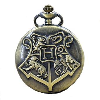 Wappen Hogwarts Anhänger mit Halskette Bronze Harry Potter