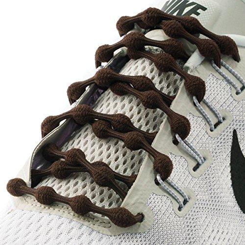 timate No Tie Shoelaces (Chocolate Brown) (Lace Nylon Tie)
