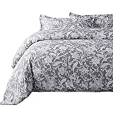 Bedsure 2pc Duvet Cover Set Reversible, Twin-XL, Gray Paisley Floral Deal (Small Image)