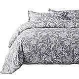 Bedsure 2pc Duvet Cover Set Reversible, Twin-XL, Gray Paisley Floral Deal
