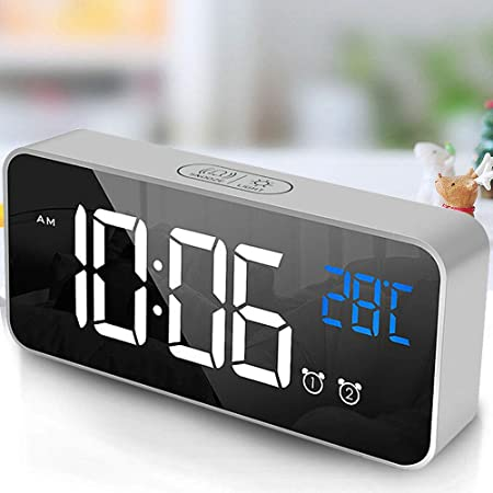 tronisky Despertador Digital, LED Digital Espejo Reloj de Mesa USB ...