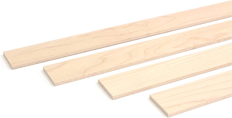 wodewa Holzleiste Wandleiste Ahorn Natur 1m Abschlussleiste Holz 30x4mm Zierleiste f/ür Wandverkleidung Decke Boden Abdeckleiste DIY Basteln