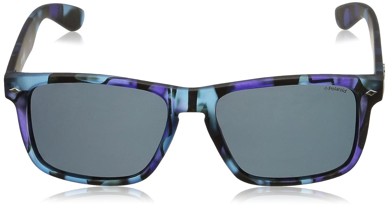 Polaroid Unisex-Erwachsene PLD 6008/S C3 PRK 55 Sonnenbrille, Blau (Bluette Campus/Grey Pz)