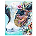 Diy Oil Painting Paint By Number Kits Diy Canvas Painting By Numbers Acrylic Oil Painting For Adults Kids Arts Craft For Home Wall Decor Colourful Cow Colourful Cow