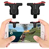 Shopline Mobile L1R1 triggers Sensitive Shot and Aim Buttons for Fortnite/PUBG/Knives Out/Rules of Survival, for Android and iOS (Triggers Only)
