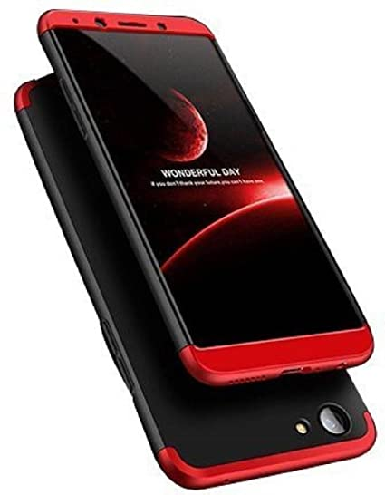 info for 21a25 199ef Aarnik Aarnik GKK 360 Degree Double Diped Shockproof Back Cover for Oppo F5  (Red/Black)