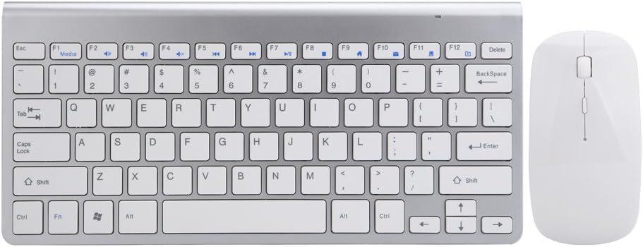 Se envía Ultra fino teclado y mouse set, Mini inalámbrico ...