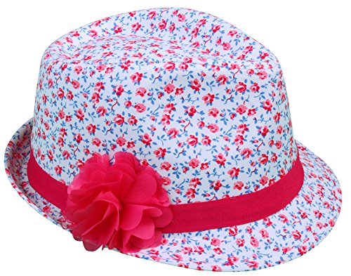 Simplicity Kids' Fedora Hat w/ Ribbon Flower (Madeline Costume For Adults)