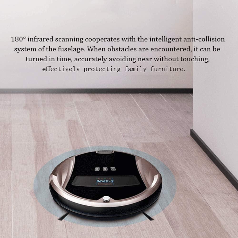 WSJTT Robot Aspirateur, Aspirateur Puissant, 1200Pa, Très Silencieux, robotique à Chargement Automatique, nettoie Les sols durs jusqu\'aux Tapis à Poils Moyens (Couleur : B) A