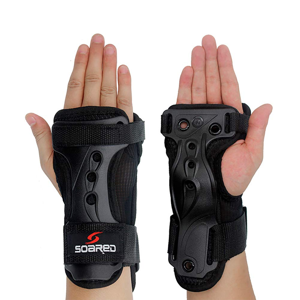 LALATECH Wrist Guards Protective Gear Skating Gloves Extended Wrist Palms Protection Roller Skating Hard Gauntlets for Snowboard Skiing Skateboard Roller Skating Scooter (L) by Soared